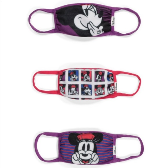 Minnie Mouse Set of 3 Face Masks